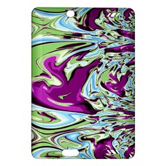 Purple, Green, and Blue Abstract Kindle Fire HD (2013) Hardshell Case