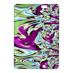 Purple, Green, And Blue Abstract Kindle Fire Hdx 8 9  Hardshell Case