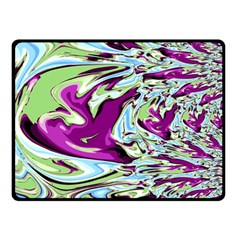Purple, Green, And Blue Abstract Double Sided Fleece Blanket (small)