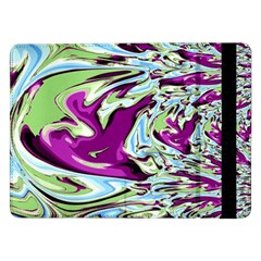 Purple, Green, And Blue Abstract Samsung Galaxy Tab Pro 12 2  Flip Case