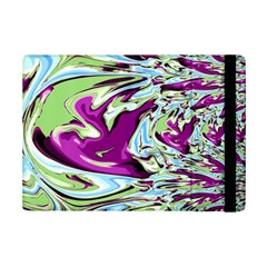 Purple, Green, and Blue Abstract iPad Mini 2 Flip Cases