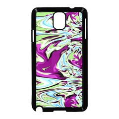 Purple, Green, And Blue Abstract Samsung Galaxy Note 3 Neo Hardshell Case (black)