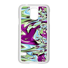 Purple, Green, And Blue Abstract Samsung Galaxy S5 Case (white)