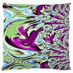 Purple, Green, and Blue Abstract Large Flano Cushion Cases (Two Sides)