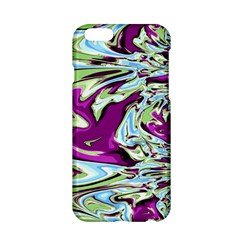 Purple, Green, and Blue Abstract Apple iPhone 6/6S Hardshell Case