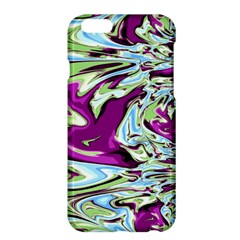 Purple, Green, and Blue Abstract Apple iPhone 6/6S Plus Hardshell Case