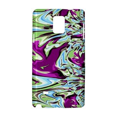 Purple, Green, and Blue Abstract Samsung Galaxy Note 4 Hardshell Case