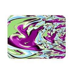 Purple, Green, And Blue Abstract Double Sided Flano Blanket (mini)