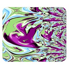 Purple, Green, And Blue Abstract Double Sided Flano Blanket (small)