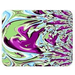 Purple, Green, And Blue Abstract Double Sided Flano Blanket (medium)