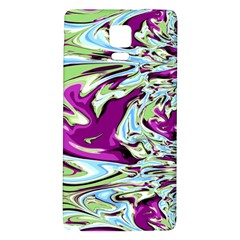 Purple, Green, and Blue Abstract Galaxy Note 4 Back Case