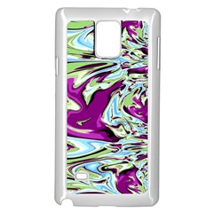 Purple, Green, and Blue Abstract Samsung Galaxy Note 4 Case (White)