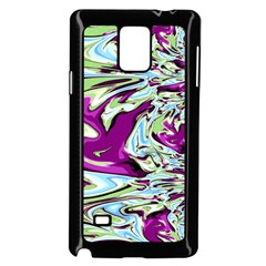 Purple, Green, And Blue Abstract Samsung Galaxy Note 4 Case (black)