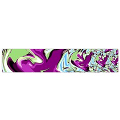 Purple, Green, and Blue Abstract Flano Scarf (Small)