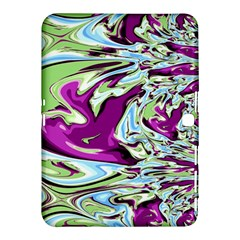 Purple, Green, and Blue Abstract Samsung Galaxy Tab 4 (10.1 ) Hardshell Case