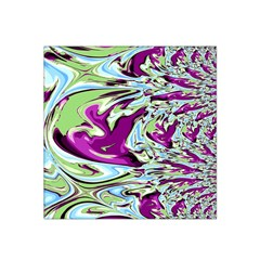 Purple, Green, And Blue Abstract Satin Bandana Scarf