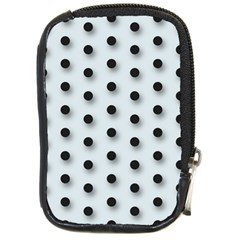 Black And White Polka Dot  Compact Camera Cases