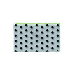 Black And White Polka Dot  Cosmetic Bag (xs)