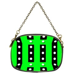 Florescent Green Polka-dot  Chain Purses (One Side)