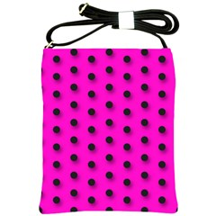 Hot Pink Black Polka Dot  Shoulder Sling Bags