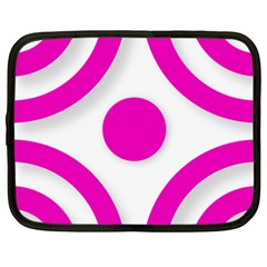 Florescent Pink White abstract  Netbook Case (XXL)