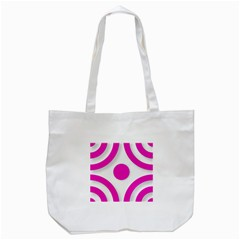 Florescent Pink White abstract  Tote Bag (White)