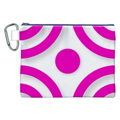 Florescent Pink White abstract  Canvas Cosmetic Bag (XXL)