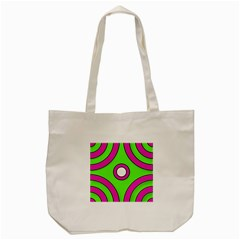 Neon Green Black Pink Abstract  Tote Bag (Cream)
