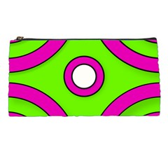 Neon Green Black Pink Abstract  Pencil Cases