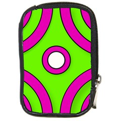 Neon Green Black Pink Abstract  Compact Camera Cases