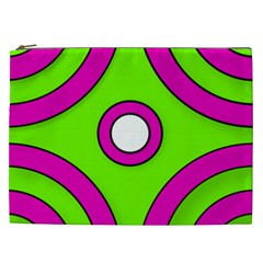 Neon Green Black Pink Abstract  Cosmetic Bag (XXL)