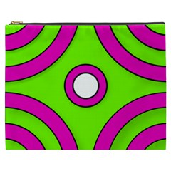 Neon Green Black Pink Abstract  Cosmetic Bag (XXXL)