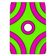 Neon Green Black Pink Abstract  Flap Covers (l)
