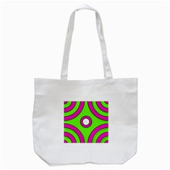 Neon Green Black Pink Abstract  Tote Bag (white)