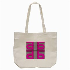Florescent Pink Grey Abstract  Tote Bag (cream)