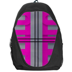 Florescent Pink Grey Abstract  Backpack Bag