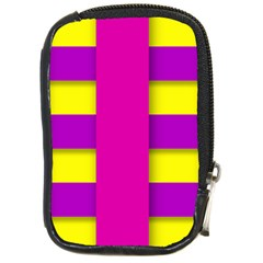 Florescent Pink Purple Abstract  Compact Camera Cases