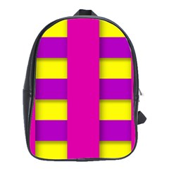 Florescent Pink Purple Abstract  School Bags(large)