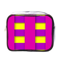 Florescent Pink Purple Abstract  Mini Toiletries Bags