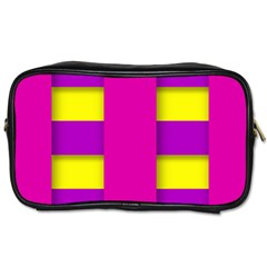 Florescent Pink Purple Abstract  Toiletries Bags