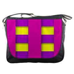 Florescent Pink Purple Abstract  Messenger Bags