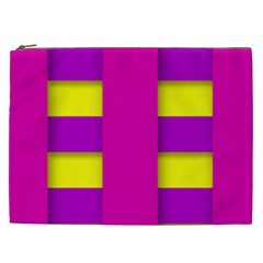 Florescent Pink Purple Abstract  Cosmetic Bag (XXL)