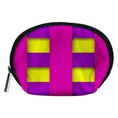 Florescent Pink Purple Abstract  Accessory Pouches (medium)