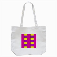 Florescent Pink Purple Abstract  Tote Bag (white)