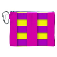 Florescent Pink Purple Abstract  Canvas Cosmetic Bag (XXL)