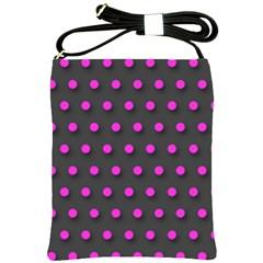 Pink Grey Polka Dot  Shoulder Sling Bags