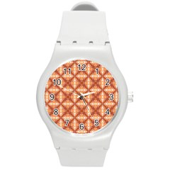 Cute Pattern Gifts Round Plastic Sport Watch (M)