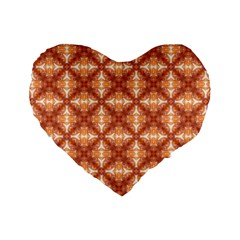 Cute Pattern Gifts Standard 16  Premium Heart Shape Cushions