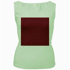 Cute Pattern Gifts Women s Green Tank Tops