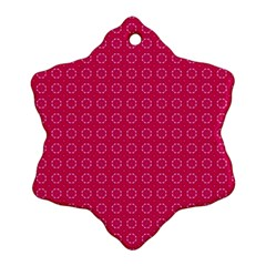 Cute Pattern Gifts Snowflake Ornament (2-Side)